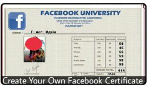 Facebook certificate