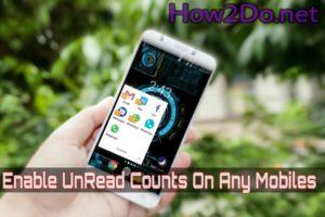 Enable unread count badge