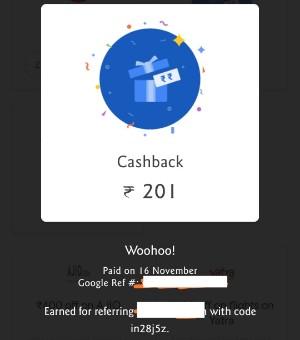 G pay earn 201